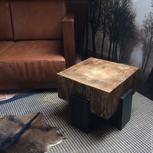Мебель ручной работы. Ярмарка Мастеров - ручная работа. Купить Чайный журнальный стол из массива. Handmade. Стол