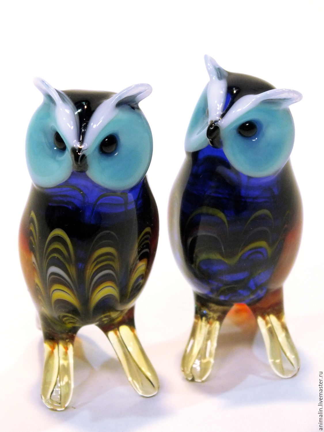 Decorative figurine made of colored glass Owl Ulula, Figurines, Moscow,  Фото №1