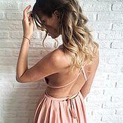 Одежда ручной работы. Ярмарка Мастеров - ручная работа Платье в греческом стиле из креп-шелка. Handmade.