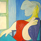 Картины и панно handmade. Livemaster - original item Pablo Picasso. Woman sitting by the window. (copy). Handmade.