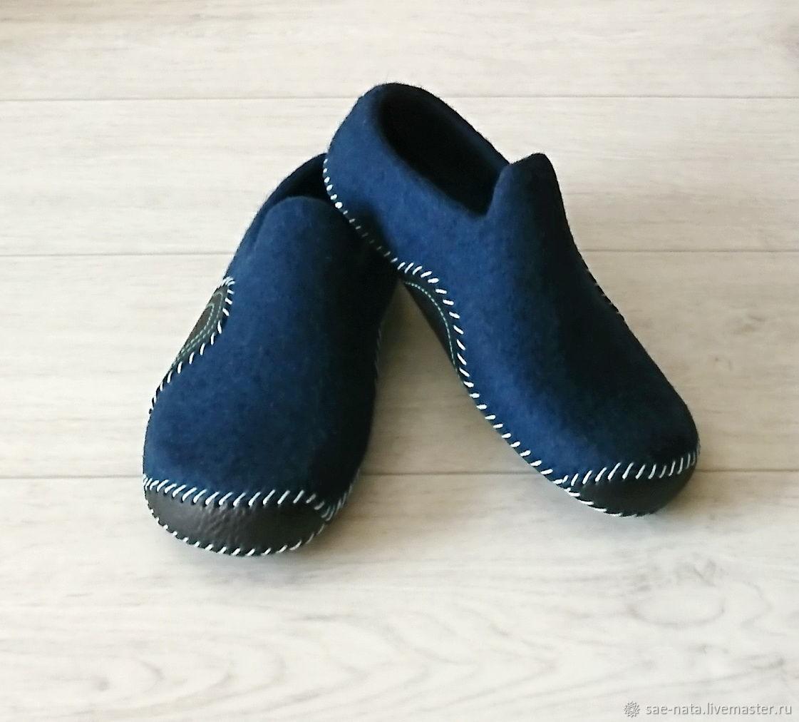 Обувь ручной работы. Ярмарка Мастеров - ручная работа. Купить Тапки валяные мужские. Handmade. Мужские тапки