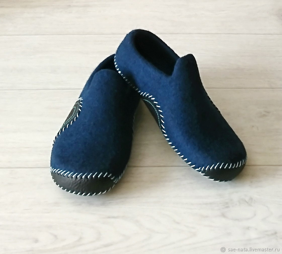 Felted Slippers for men, Slippers, Leninsk-Kuznetsky,  Фото №1