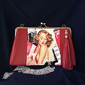 Сумки и аксессуары handmade. Livemaster - original item Leather handbag with clasp cover Girl. Handmade.