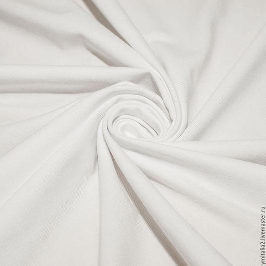 Шитье ручной работы. Ярмарка Мастеров - ручная работа. Купить Трикотаж  хлопковый белый DEHA. Handmade. Белый, итальянские ткани