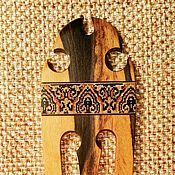 Украшения ручной работы. Ярмарка Мастеров - ручная работа Шпилька для волос Кармэн, с мозаикой, лунный эбен. Handmade.
