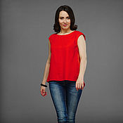 Одежда handmade. Livemaster - original item Pintucked blouse. Handmade.