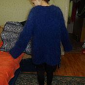 Одежда handmade. Livemaster - original item jacket mohair blue night. Handmade.