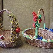 Подарки к праздникам ручной работы. Ярмарка Мастеров - ручная работа Пасхальная корзинка. Handmade.