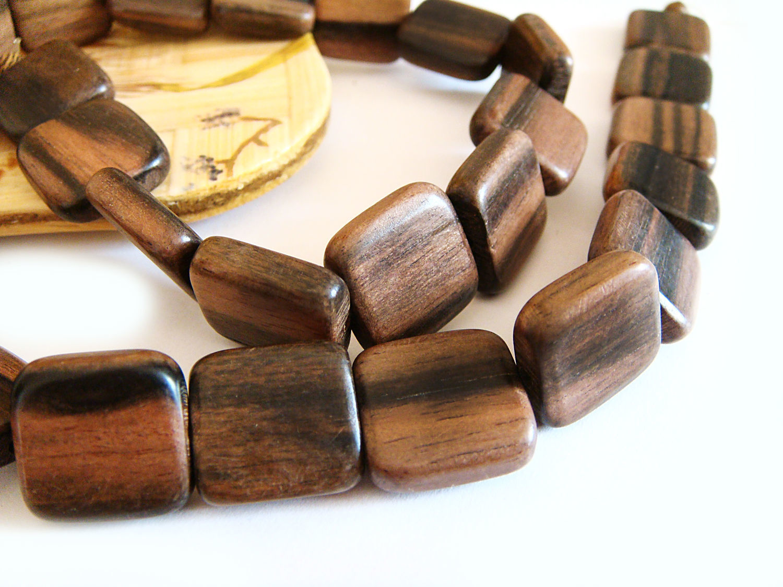 Beads tiger Ebony flat square 14mm, Beads1, Bryansk,  Фото №1