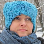 Аксессуары handmade. Livemaster - original item Women`s felted hat
