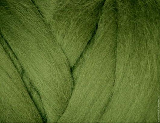 Валяние ручной работы. Ярмарка Мастеров - ручная работа. Купить Шерсть для валяния меринос 18 микрон цвет Плющ (Ivy). Handmade.