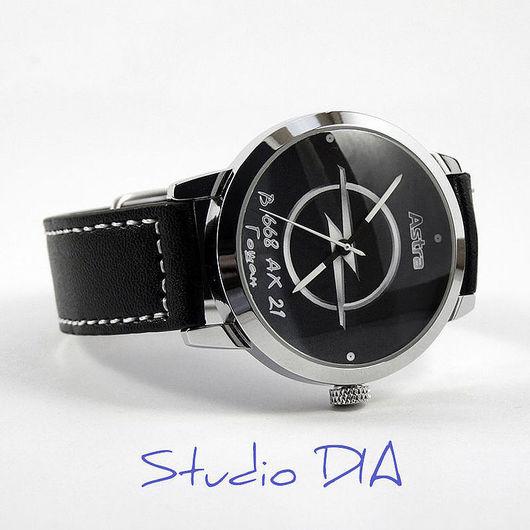 Часы Под Заказ - Автомобиль Opel Astra. \r\nЧасы с индивидуальным дизайном под заказ.\r\nСтудия Дизайнерских Часов DIA.