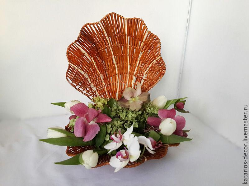 Цветы в ракушке