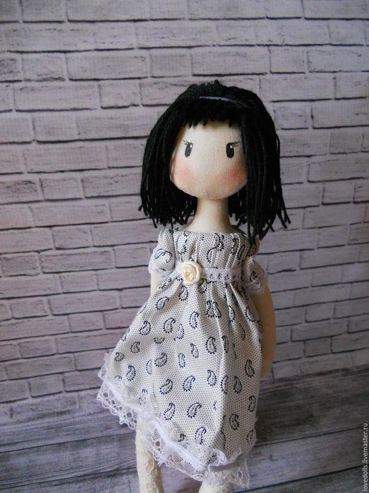 Человечки ручной работы. Ярмарка Мастеров - ручная работа. Купить Текстильная игровая, интерьерная Кукла. Handmade. Серый, акриловые краски