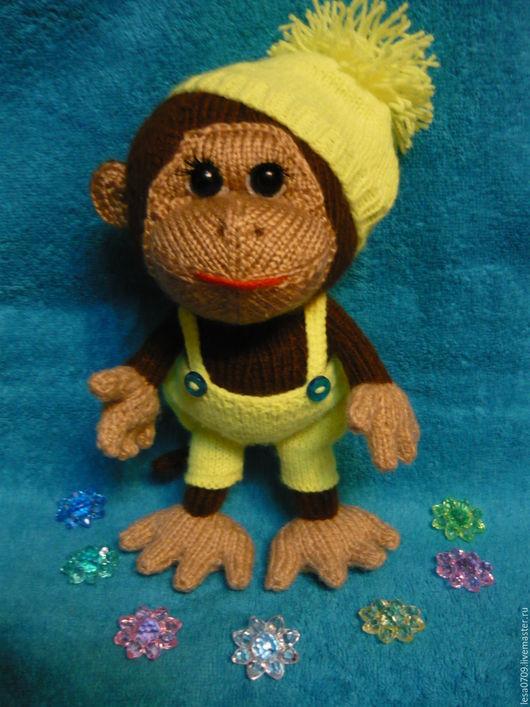 Игрушки животные, ручной работы. Ярмарка Мастеров - ручная работа. Купить обезьянка в шапочке. Handmade. Зеленый цвет