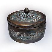 Для дома и интерьера ручной работы. Ярмарка Мастеров - ручная работа Старинная шкатулка круглая. Handmade.