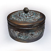 Для дома и интерьера handmade. Livemaster - original item Antique jewelry box round. Handmade.