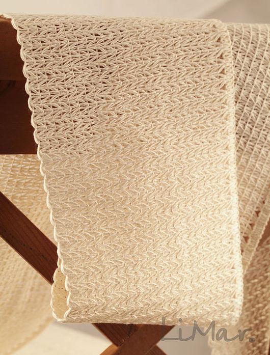 Шитье ручной работы. Ярмарка Мастеров - ручная работа. Купить Тесьма вязанная ажурная 120 мм. Handmade. Шитье