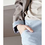 Одежда ручной работы. Ярмарка Мастеров - ручная работа Голубая джинсовая юбка Bona. Handmade.
