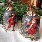 """Подарки к праздникам ручной работы. Ярмарка Мастеров - ручная работа Колокольчики """"Рождественские забавы"""" (2 шт). Handmade."""