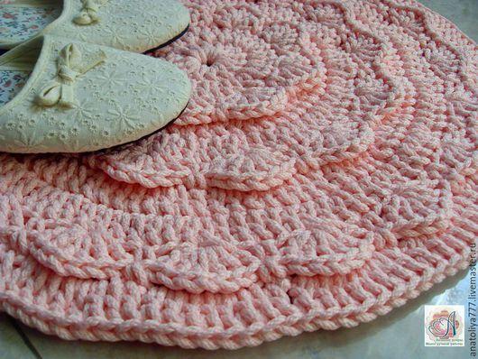 Текстиль, ковры ручной работы. Ярмарка Мастеров - ручная работа. Купить Коврик ручной работы прикроватный Веер. Handmade.