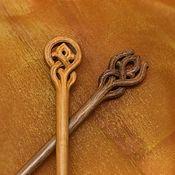 Украшения ручной работы. Ярмарка Мастеров - ручная работа Шпильки для волос деревянные(Яблоня и Орех). Handmade.