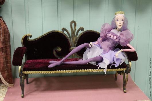Кукольный дом ручной работы. Ярмарка Мастеров - ручная работа. Купить Кованый  диван для  куклы.. Handmade. Ковка, художественная  ковка