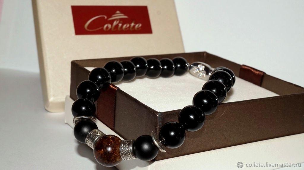 A bracelet made of beads: Men's bracelet for Leo, Aries or Scorpio!, Bead bracelet, Moscow,  Фото №1