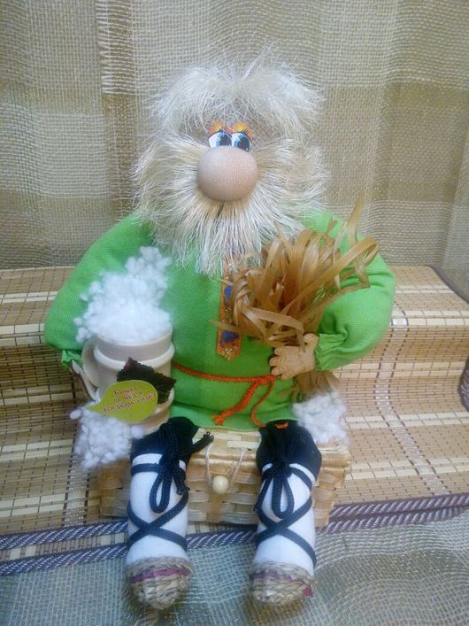 Сказочные персонажи ручной работы. Ярмарка Мастеров - ручная работа. Купить Банник. Handmade. Домовой, обереги в подарок, сизалевое волокно