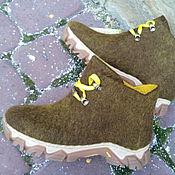 Обувь ручной работы. Ярмарка Мастеров - ручная работа Эко кроссовки из шерсти Одуванчики. Handmade.