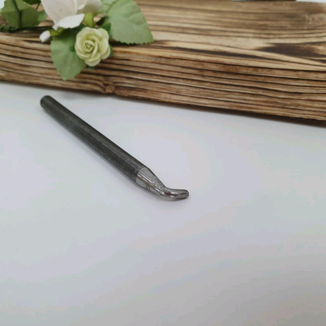 Стальной нож с жилкой 3мм для цветов из шелка, кожи, глины, узкий нож, Инструменты для флористики, Ижевск,  Фото №1