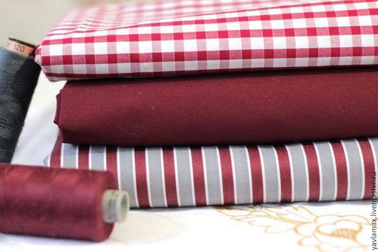 Шитье ручной работы. Ярмарка Мастеров - ручная работа. Купить Набор тканей Бордо. Handmade. Ткань для рукоделия, ткань