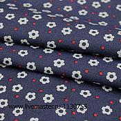 Ткани ручной работы. Ярмарка Мастеров - ручная работа Ткань натуральная  джинса цветы , Г 001. Handmade.
