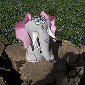 Куклы и игрушки ручной работы. Ярмарка Мастеров - ручная работа Слоник (текстильная игрушка). Handmade.