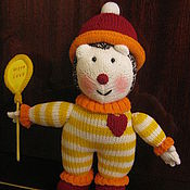 """Куклы и игрушки ручной работы. Ярмарка Мастеров - ручная работа Вязаная игрушка """"Еж Клоун"""". Handmade."""