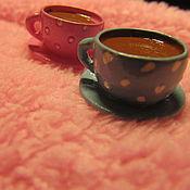 Посуда ручной работы. Ярмарка Мастеров - ручная работа Фигурка чашечка кофе в горошек. Handmade.