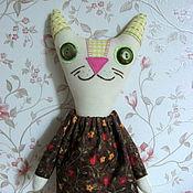 Куклы и игрушки ручной работы. Ярмарка Мастеров - ручная работа Текстильная игрушка кошка Хлая. Handmade.