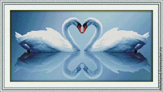 Набор для вышивания  `Белые лебеди`