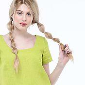 handmade. Livemaster - original item Basic blouse made of 100% linen. Handmade.