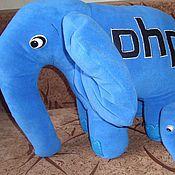 Мягкие игрушки ручной работы. Ярмарка Мастеров - ручная работа PHP elephant. Handmade.