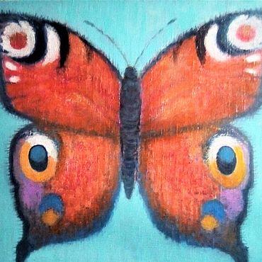 """Картины и панно ручной работы. Ярмарка Мастеров - ручная работа Картины: """"Бабочка декоративная"""" 45 на 55 см. Handmade."""