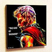 Картины и панно handmade. Livemaster - original item Picture poster Thor 3 The Avengers Marvel Marvel in stylePop Art. Handmade.