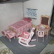"""Куклы и игрушки ручной работы. Ярмарка Мастеров - ручная работа Кукольная мебель,спальня, будуар в стиле """"шебби шик. Handmade."""