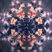 Аксессуары ручной работы. Ярмарка Мастеров - ручная работа Tie-dye трикотаж Солнечное затмение. Handmade.