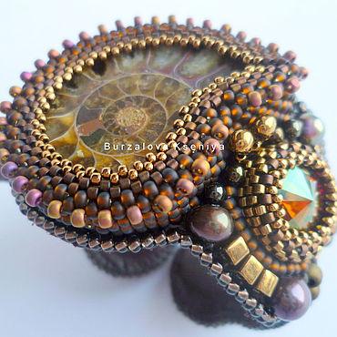 """Украшения ручной работы. Ярмарка Мастеров - ручная работа Браслет """"Chocolate Ammonite"""". Handmade."""