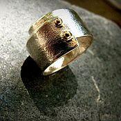 Украшения ручной работы. Ярмарка Мастеров - ручная работа Серебряное кольцо с золотом. Handmade.