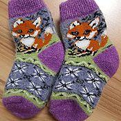 Одежда детская handmade. Livemaster - original item Children`s wool socks Warm children`s socks Knitted children`s socks. Handmade.
