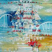 Картины и панно ручной работы. Ярмарка Мастеров - ручная работа Домик у моря. Handmade.