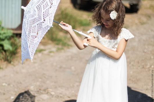 Зонты ручной работы. Ярмарка Мастеров - ручная работа. Купить зонтик для фотосессии. Handmade. Белый, зонтик