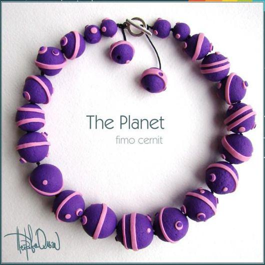 """Колье, бусы ручной работы. Ярмарка Мастеров - ручная работа. Купить Ожерелье """"Планета"""". Handmade. Глина"""